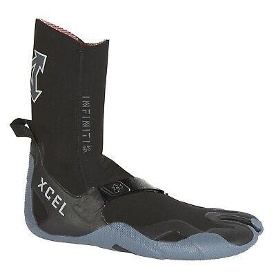 Unisex Black/gray Good Taste Xcel Infiniti Split Toe 3mm Surf Boot 7