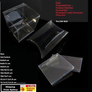 Details About Clear Pvc Gift Boxes 10x10x24 18x13x7 Cm Small Pvc Box Hand Bag Invitation Box
