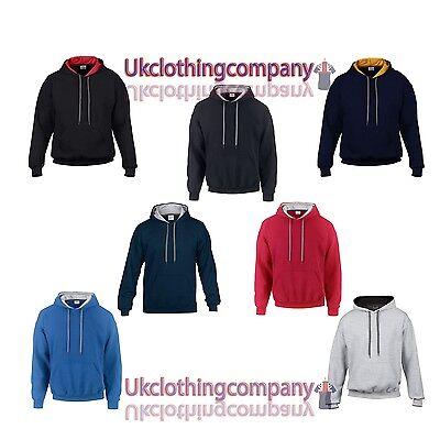 Adult Gildan Heavy Blend Contrast Sweatshirt Hoodie-unisex Top- S M L Xl 2xl