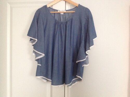 Karen by Karen Kane blue cotton tunic size m