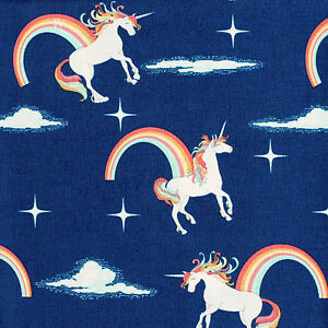 Unicorns-100-Cotton-Riley-Blake-Quilting-Fabric-Novelty-by-Doohikey