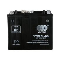Ytx20l-bs Agm Battery Harley-davidson (1991–2014) Dyna Softail Sportster V-rod
