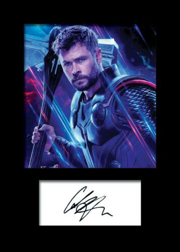 FREE DELIVERY CHRIS HEMSWORTH #7 A5 Signed Mounted Photo Print