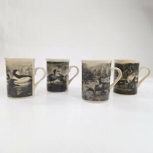 Field And Stream Wildlife Coffee Mug Cup Set Design Pac Deer Caribou Duck Ebay