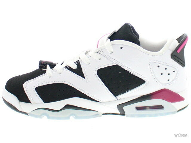 AIR JORDAN 6 RETRO LOW GG 768878-107 white sport fuchsia-black 6 Size 6.5Y