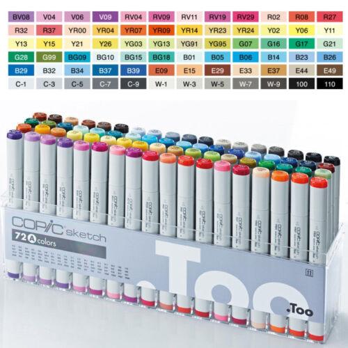 Original COPIC Sketch 72 Color Set A Markers 72 A SET