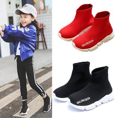 Kids Sock Shoes Girls Boys Knitted