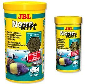 JBL-Novo-RIFT-250-ML-1-L-dei-Ciclidi-Stick-cibo-per-pesci-lago-Malawi-Tanganjika-Novo-RIFT