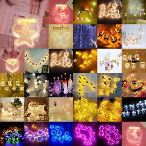 LED Crack Star Fairy String Light Strings Romantic Lamp Wedding Party Xmas Decor