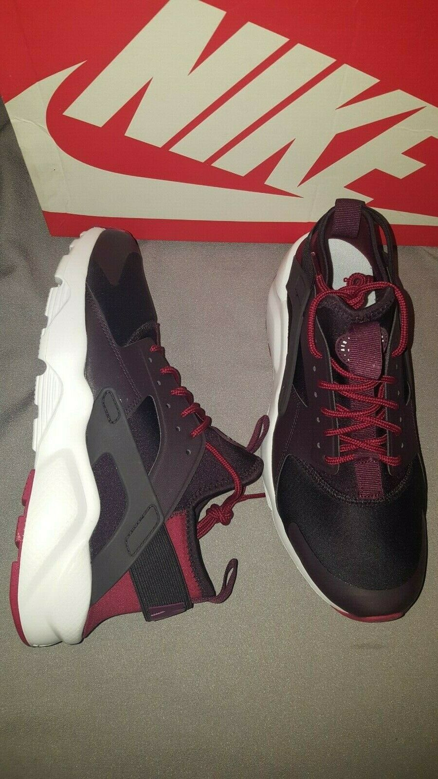 NIKE AIR HUARACHE RUN ULTRA WINE BORDEAUX rot 819685 605 MENS schuhe SZ 9 NEW