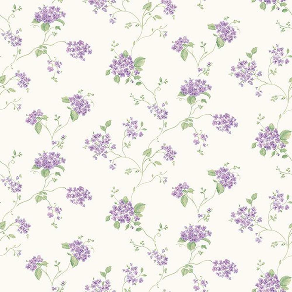 G67867 - Miniatures2 Floral Trail Purple Green Galerie Wallpaper