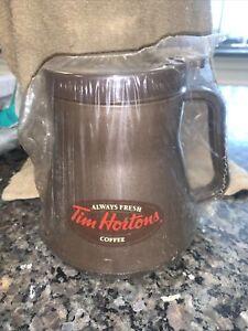 TIM HORTON'S  20 OZ NO TIP SPILL TRAVEL WIDE BOTTOM COFFEE MUG W/LID