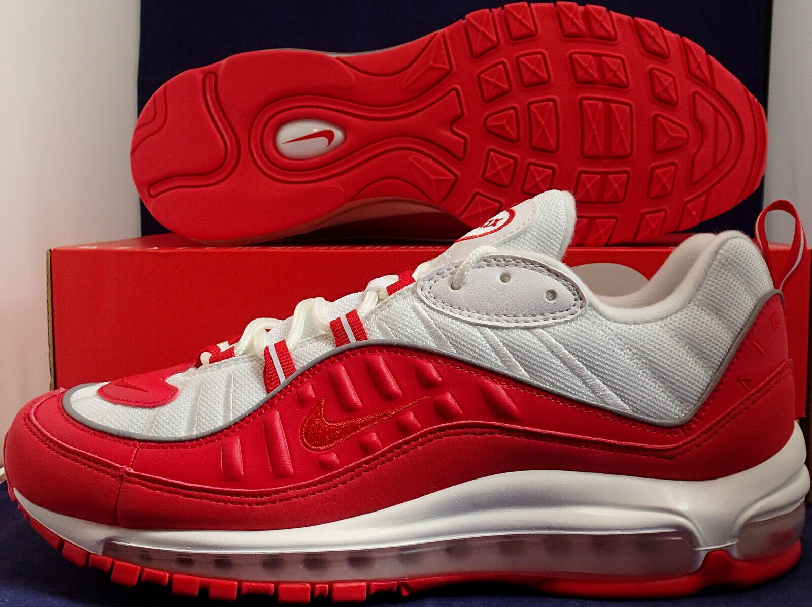 Nike Air Max 98 Universidad rosso  biancao Dimensione 10 (640744 -602)  qualità autentica