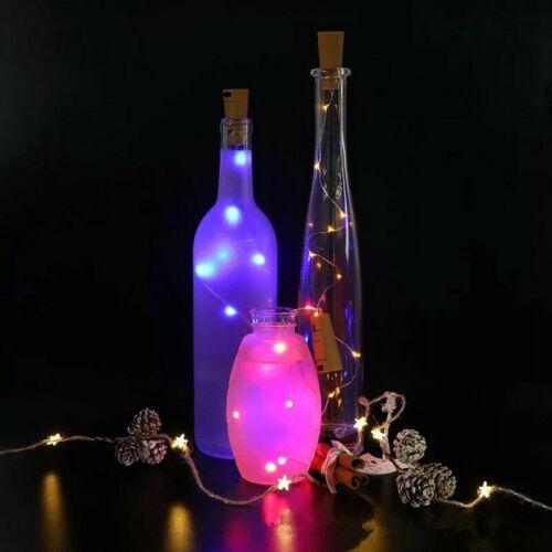 1//2//3x Cork Shaped 15 LED Night Light Starry Light Wine Bottle Lamp For Party Du