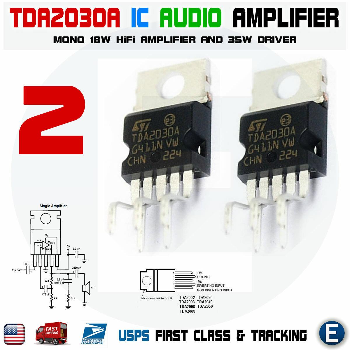 and 35W Driver USA Seller 2 x TDA2030A 18W Mono Hi-fi Amp