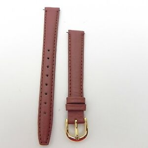 12mm-Ladies-Padded-Brown-Stitched-Watch-Band-Strap