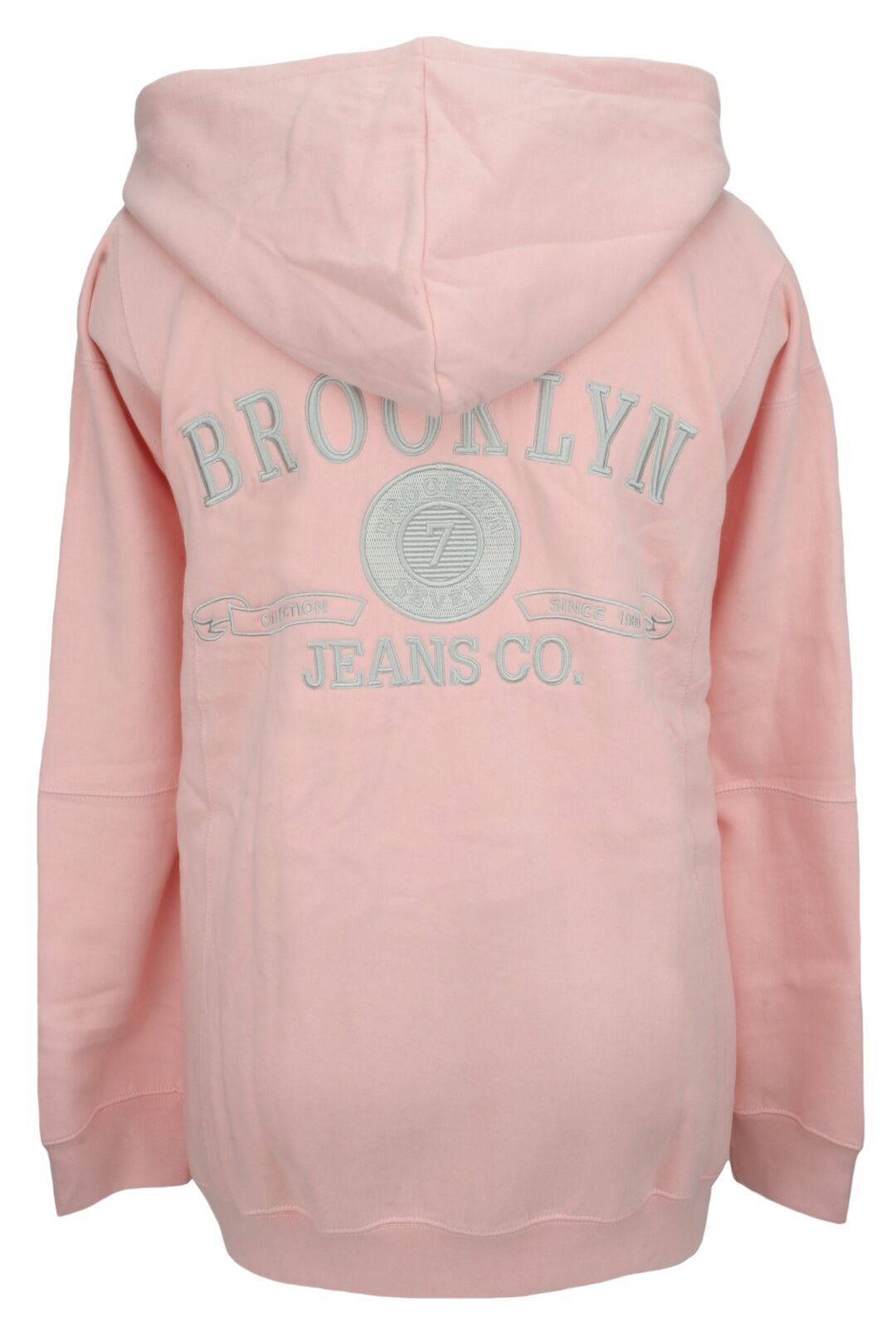 Perfect Collection Embroidered Brooklyn Hoodie Pale Pink