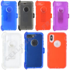 official photos b1836 681ec Details about for Apple iPhone 8 Plus Clear Case Cover w/(Clip fits  Otterbox Defender)