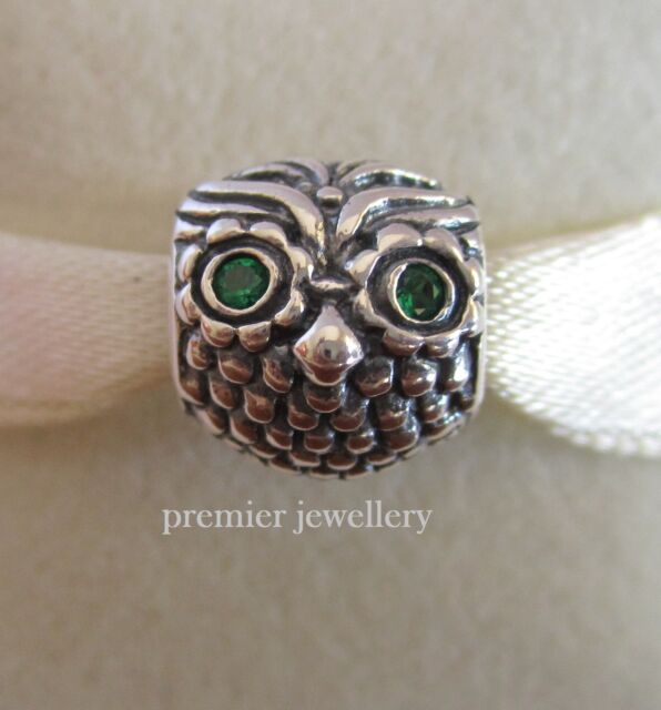 4561fe773 Genuine PANDORA Wise Owl Charm Silver 791211CZN for sale online | eBay