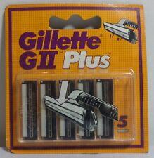 VHTF GILLETTE GII PLUS SET OF 5 BLADES