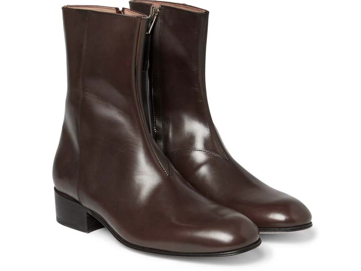NEW Paul Smith BARDO BROWN Leather Boot  SIZE 6