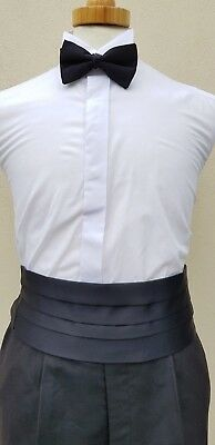 SchöN New Black Satin Cummerbund Black Tie/evening/formal/event Klar Und GroßArtig In Der Art