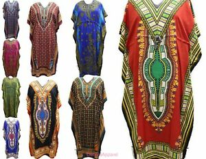 b5d98c5710 Women s Caftan Dress Kaftan Dashiki Hippie Boho Maxi Gown Beach ...