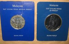 1976 & 1981 MALAYSIA 3 & 4 TH MALAYSIAN PLAN 10 & 20 RINGGIT SILVER PROOF COINS