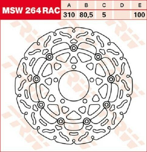TRW Lucas Bremsscheiben (Satz) vorne Kawasaki ZX-10 R (ZX100E) 08-10