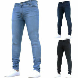 Mens-Denim-Pants-Super-Stretch-Skinny-Slim-Fit-Jeans-Trousers-All-Waist-amp-Sizes