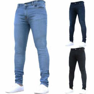 Homme-Denim-Pantalon-Super-Skinny-Stretch-Slim-Fit-Jeans-Pantalon-Tous-Tour-De-Taille-amp-Tailles