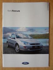 FORD FOCUS RANGE 2000-01 UK Mkt prestige sales brochure - CL Zetec LX Ghia 2.0i