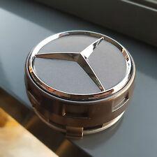 *NEU* 4 Mercedes Nabendeckel Nabenkappen grau 75mm AMG Daimler Zentralverschluss