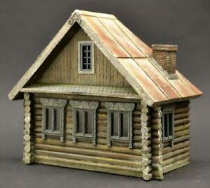 DioDump-DD151-B-Russian-039-Izba-039-house-1-72-scale-resin-diorama-building