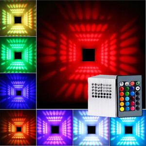 3W-RGB-LED-Wandleuchte-Wandlampe-Effektlicht-Flurlampe-Deckenleuchte-FL