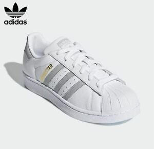 Details zu New Adidas Women's SUPERSTAR Original Shoes WhiteGrey ,Fashion Sneakers B42002
