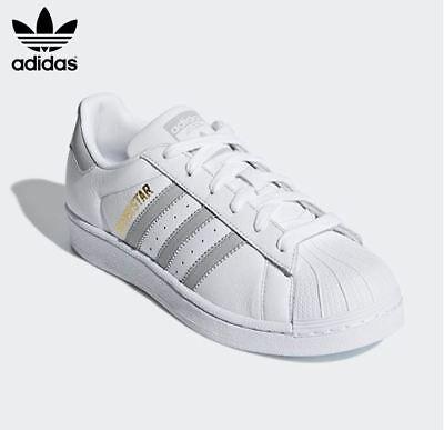 New Adidas Women's SUPERSTAR Original Shoes WhiteGrey ,Fashion Sneakers B42002 | eBay