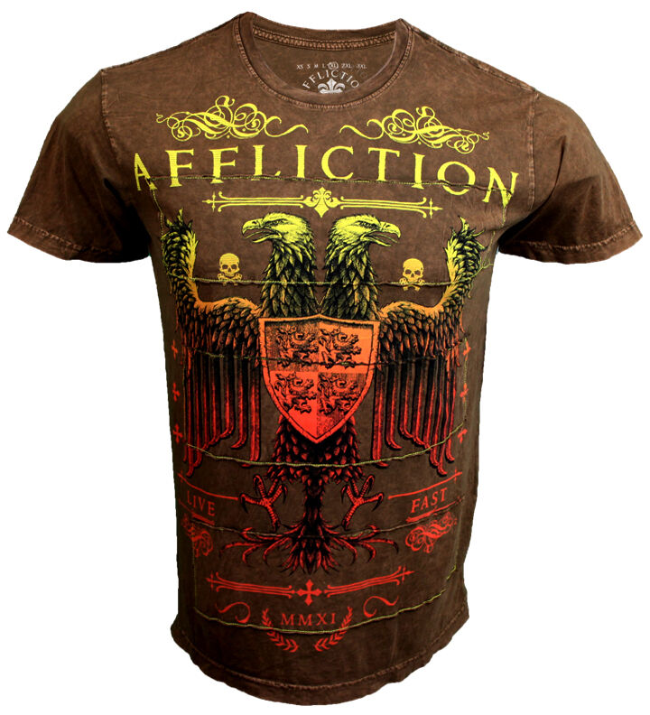Affliction Montage Braun T-Shirt 3XL XXXL UFC Mma Bjj Bjj Bjj  | Elegant  1da523