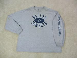 Dallas-Cowboys-Shirt-Adult-Extra-Large-Gray-Blue-Long-Sleeve-NFL-Football-Mens