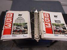 Bobcat 853 Service Manual And Parts Manual Cold Planer