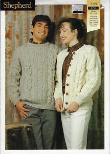 Men S Women S Cardigan Sweater Shepherd 1789 Knitting Pattern