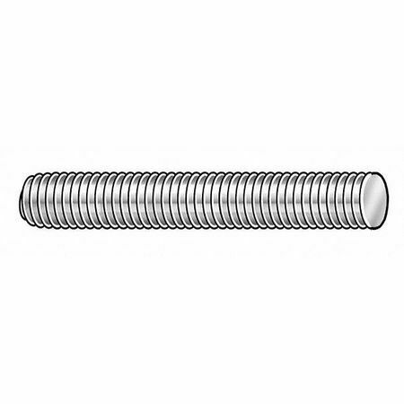 "ZORO SELECT AL.01402003.PL.DAR 1//4/""-20 x 3/' Plain T6061 Aluminum Threaded Rod"