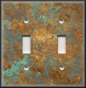 Image Is Loading Light Switch Plate Cover Of Aged Copper