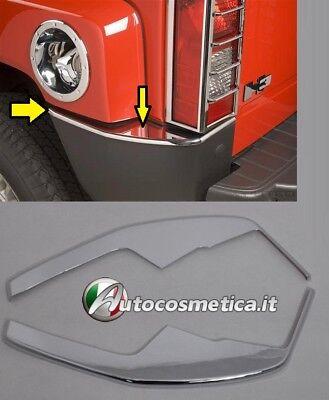 modanature frecce parafango HUMMER H3 CORNICI profili acciaio inox CROMO