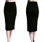 Ladies-Plain-Office-Womens-Stretch-Bodycon-Elegant-Midi-Pencil-Skirt-Dress-S-XXL thumbnail 3