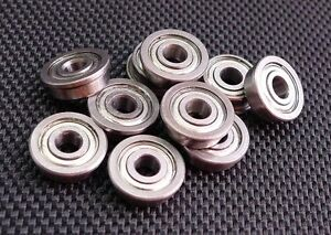"""3//8/"""" x 7//8/"""" x 9//32/"""" Flanged Metal Rubber Sealed Ball Bearings 25pcs FR6-2RS"""