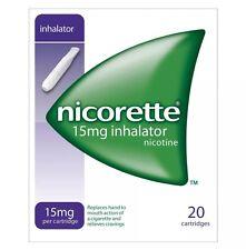 6 Packs of Nicorette 15mg Inhalator 20 Cartridges