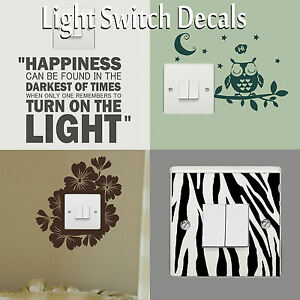 Light-Switch-Covers-Decals-Wall-Stickers-Vinyl-Art-Transfers-Interior-Home-Decor