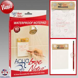 Waterproof Notepad Love Notes Montage Ordinateur Portable Aqua notes unique papier 2019