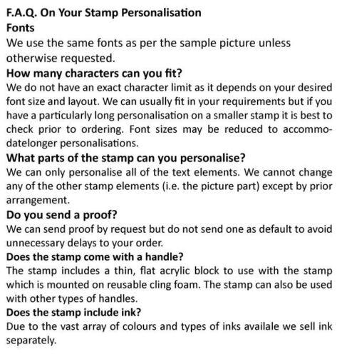 Personalised Laser Cut Rubber Stamp Postage Stamp Address Stamp